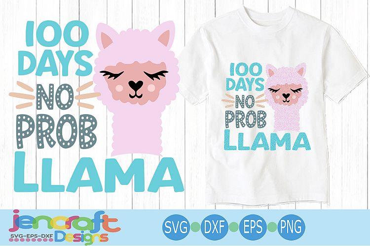 Download 100 days no probllama svg, 100 days of school svg, Llama ...