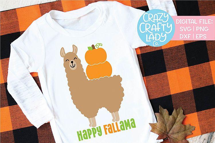 Download Happy Fallama Fall Llama SVG DXF EPS PNG Cut File