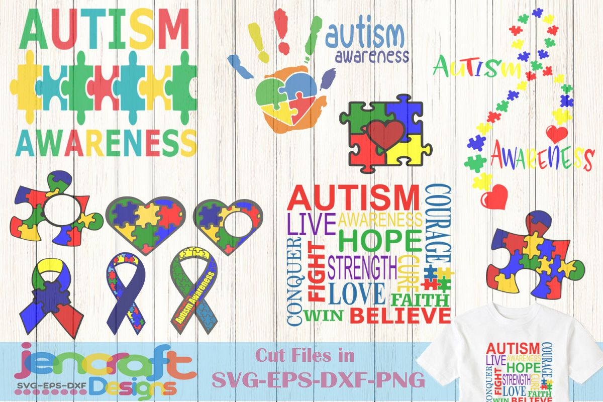 Autism Svg File Bundle Autism Awareness Cut File Clip Art