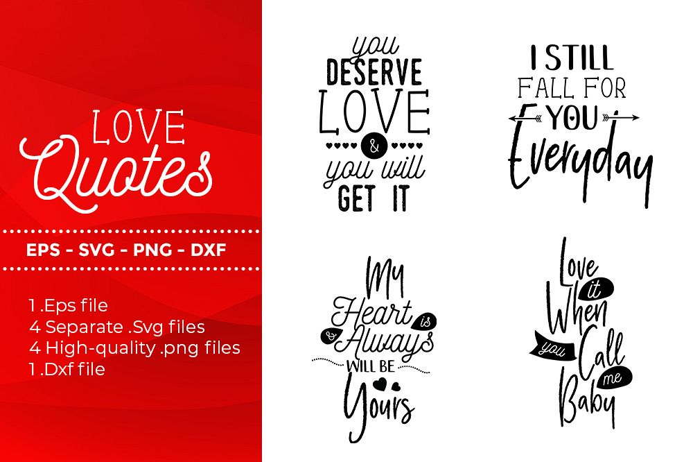 Download Love Quotes - SVG, DXF, PNG, EPS file