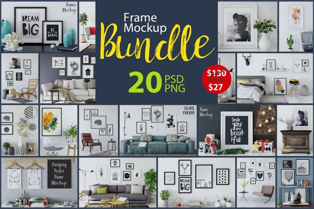 Frame Mockup Bundle Vol 1 | Siteframes.co
