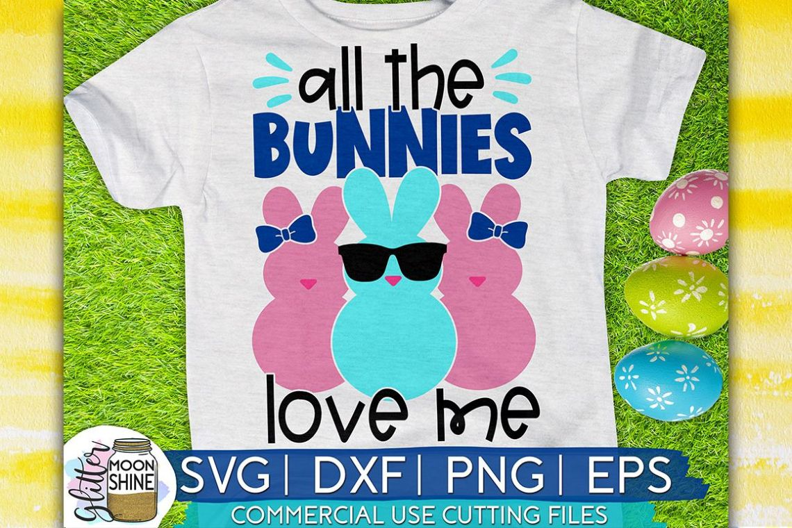 Download All The Bunnies love Me Easter SVG DXF PNG EPS Cutting Files