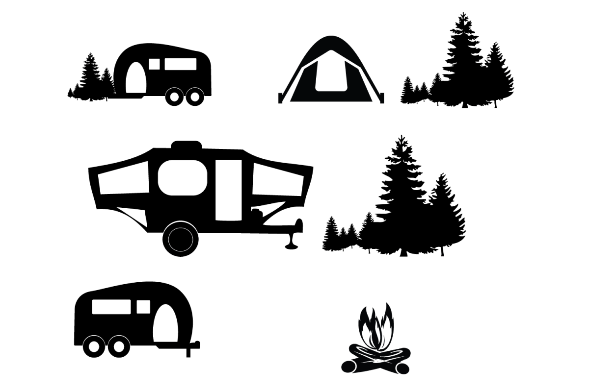 Camping Clipart Svg File