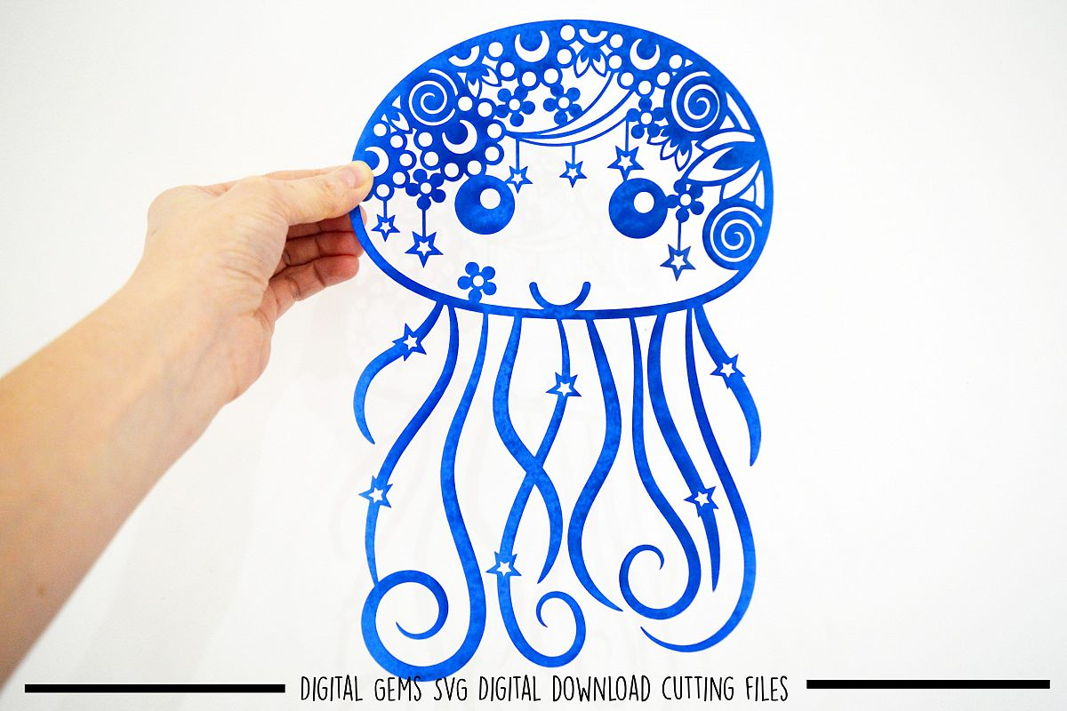 Jellyfish Paper Cut Svg Dxf Eps Files