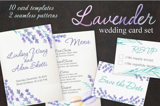 Lavender Wedding Card Set