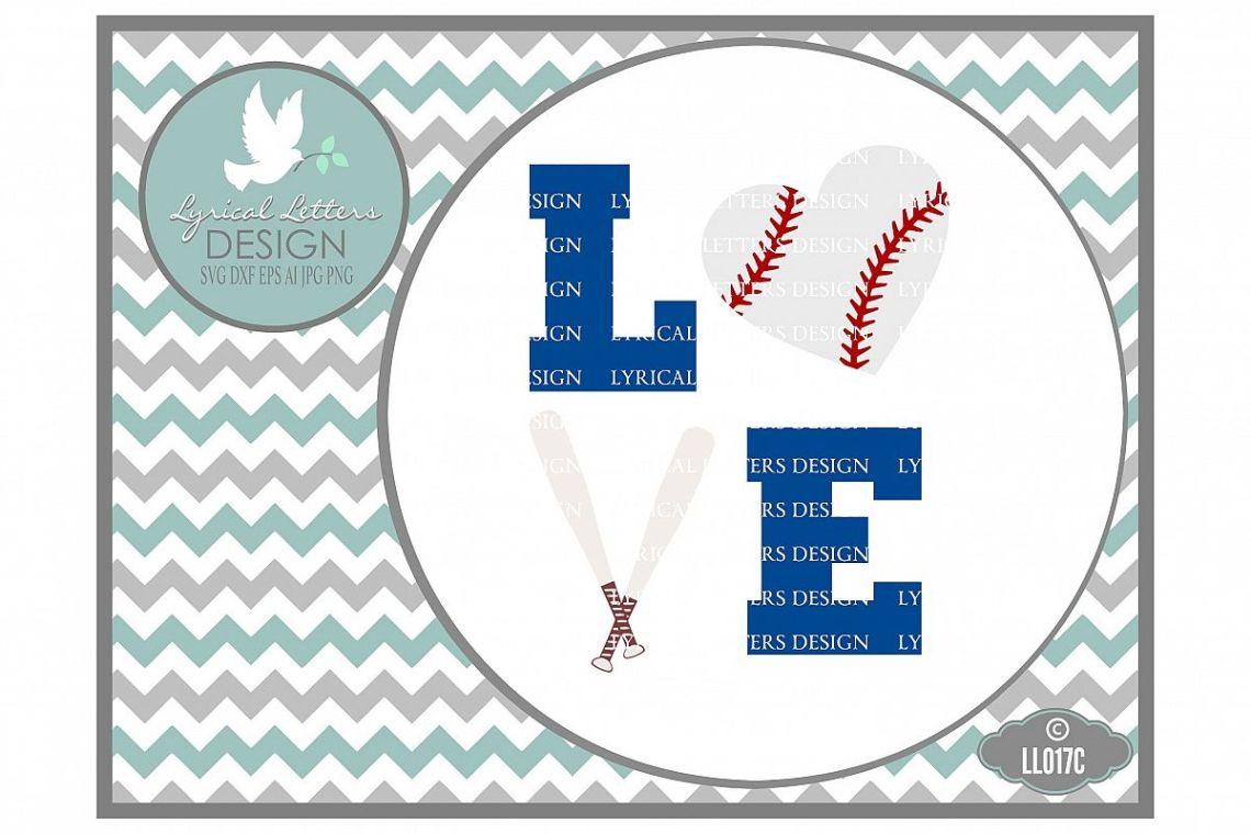 Download Baseball or Softball Love with Heart Baseball and Crossed ...