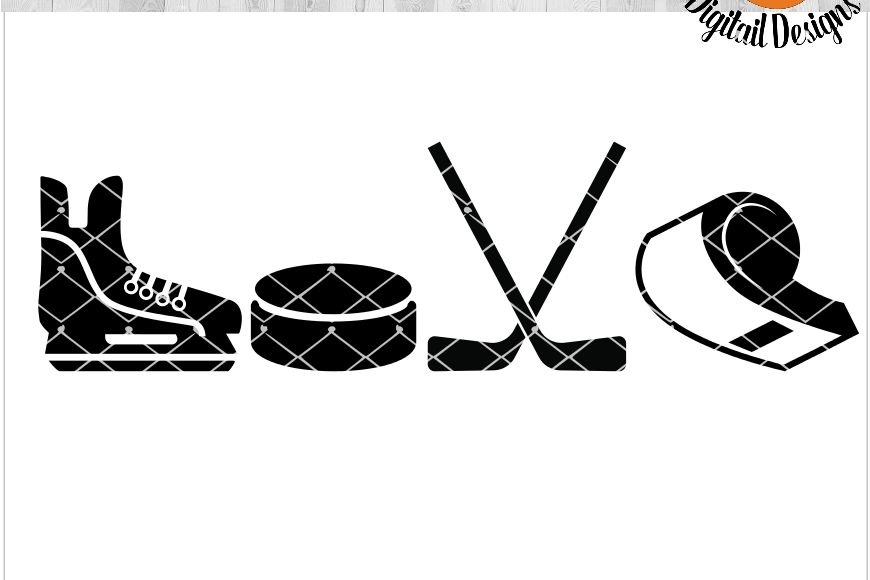 Download Hockey Love EKG SVG - png - eps - dxf - ai - fcm - Hockey ...