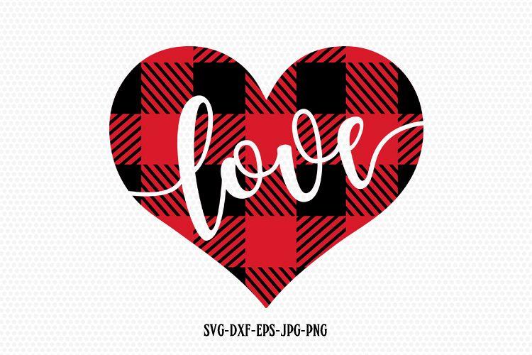 Download Valentines Day SVG, Love SVG, Plaid Love Heart
