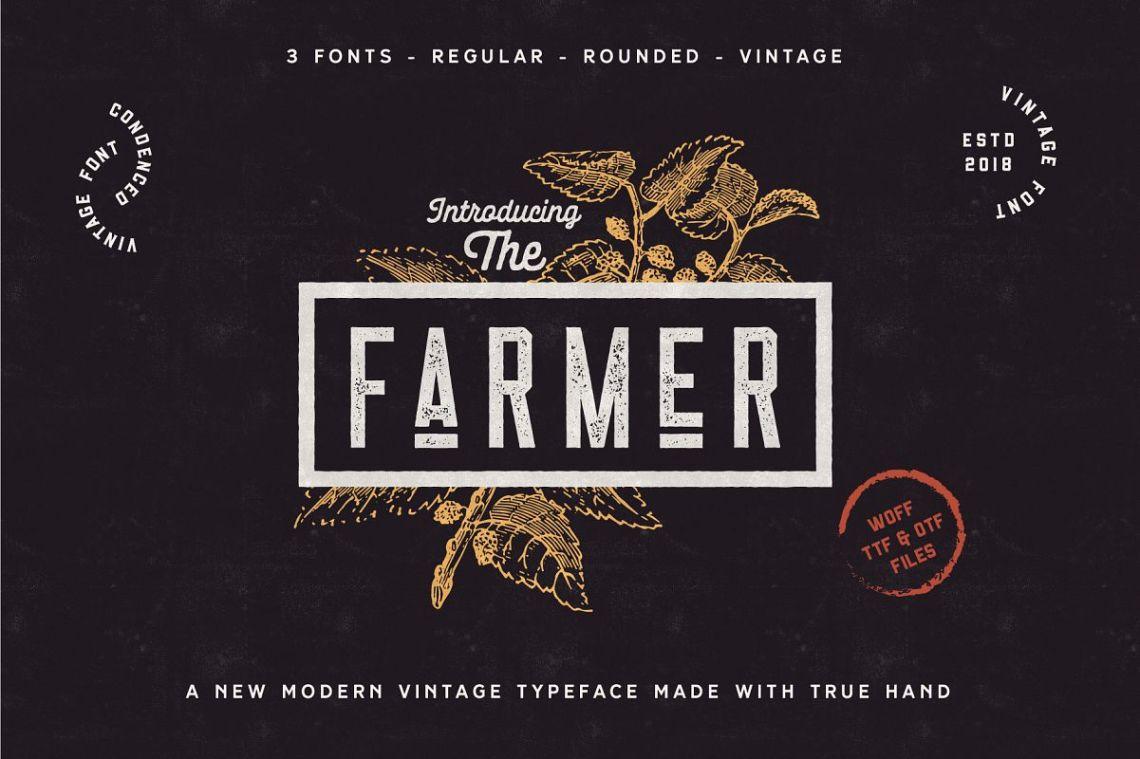 Download The Farmer Font - Condensed Typeface (123987) | Regular ...