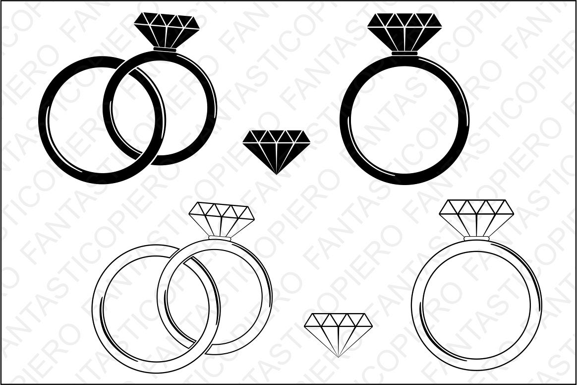 Diamond Ring Svg Cutting Files For Silhouette Cameo And