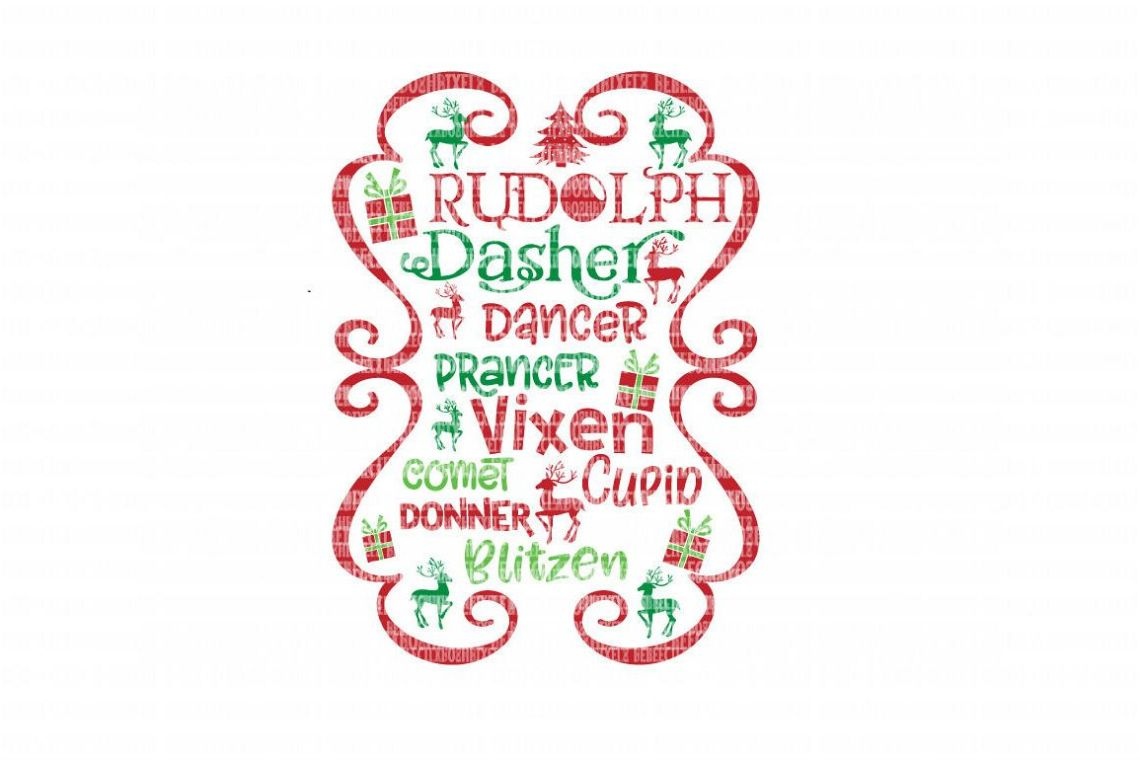 Christmas Reindeer Cricut Designs SVG F | Design Bundles