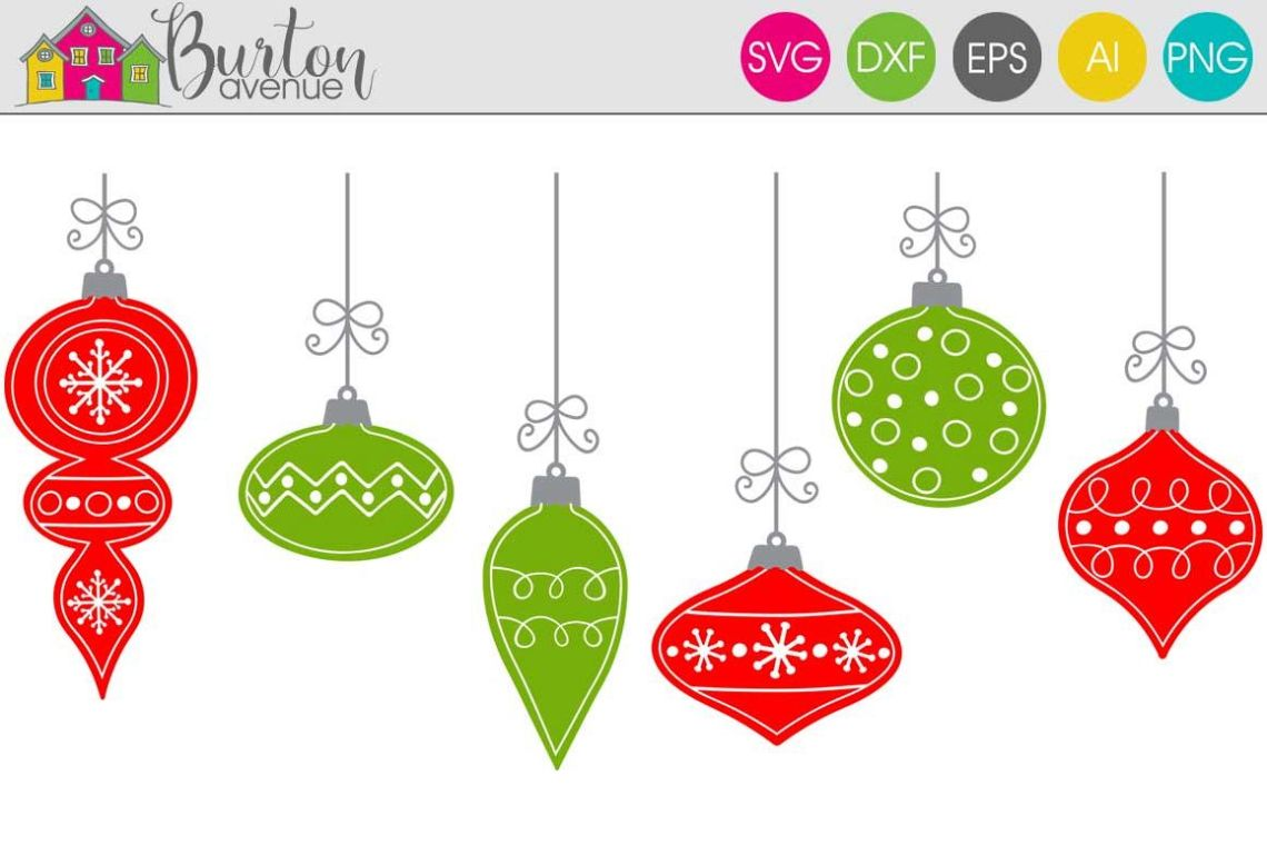 Download Hand Drawn Ornaments Christmas SVG File