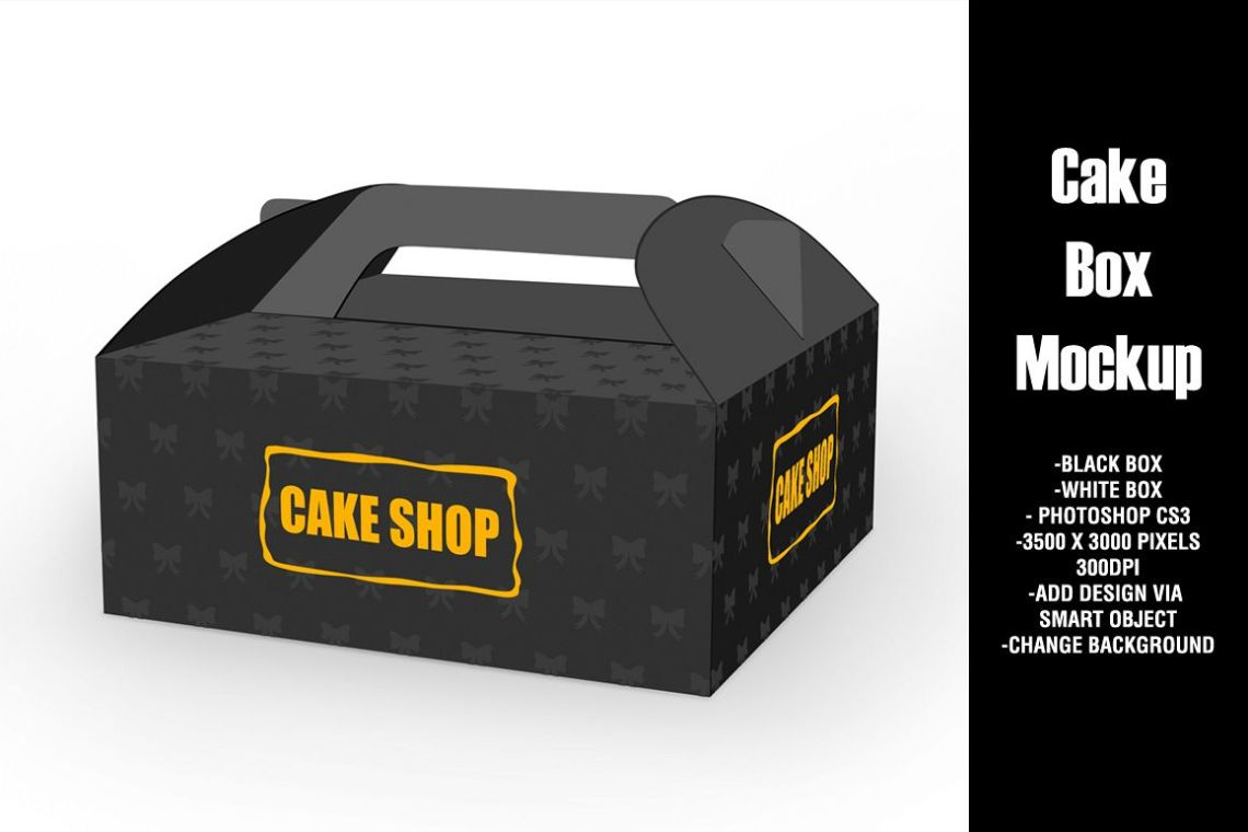 Download Cake Box Mockup (24152) | Mock Ups | Design Bundles
