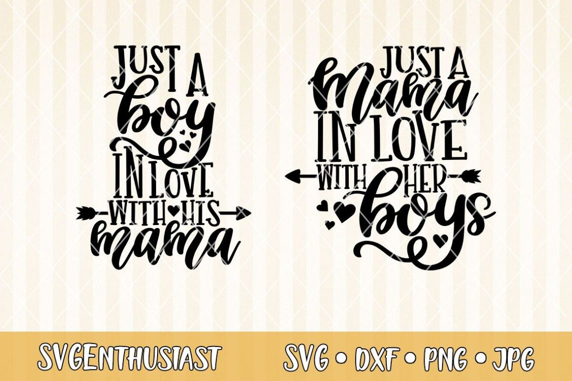 Download Just a mama in love with her boys SVG cut file (296088 ...