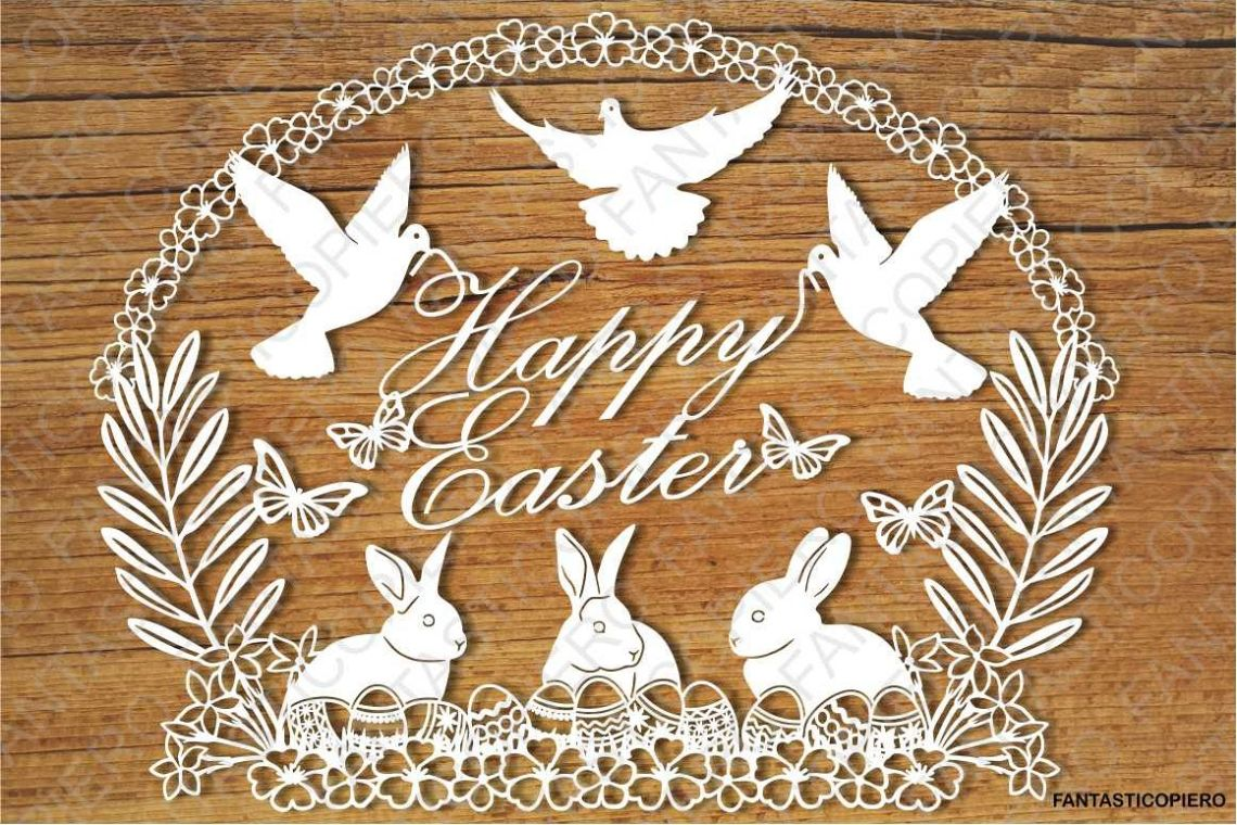 Download Happy Easter SVG files for Silhouette Cameo and Cricut.
