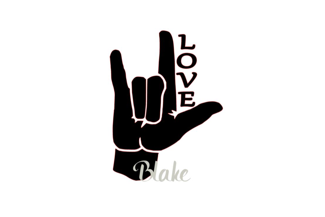 Download ASL I love you sign LOVE svg, sign language svg cut file ...