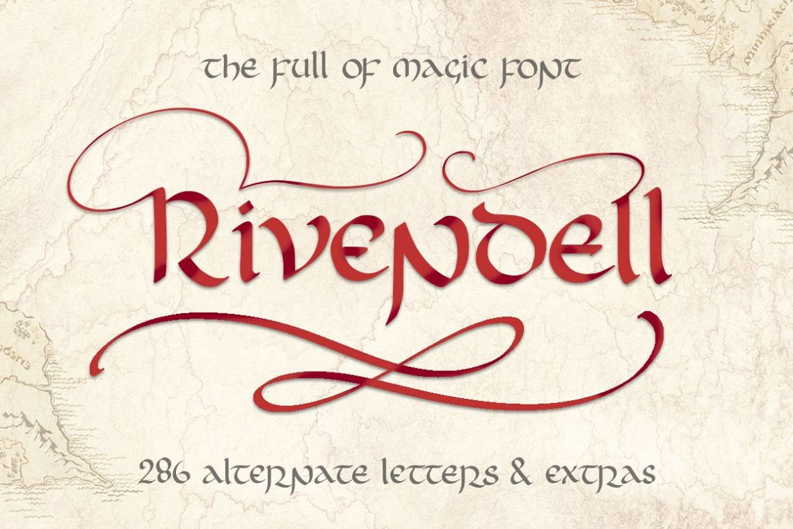 Download Rivendell. The full of magic font. (129036) | Other | Font ...