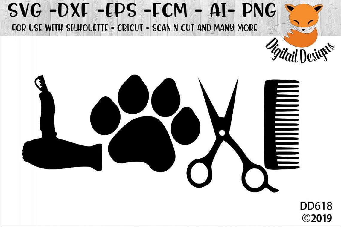 Download Dog Groomer Love SVG (92580) | Cut Files | Design Bundles
