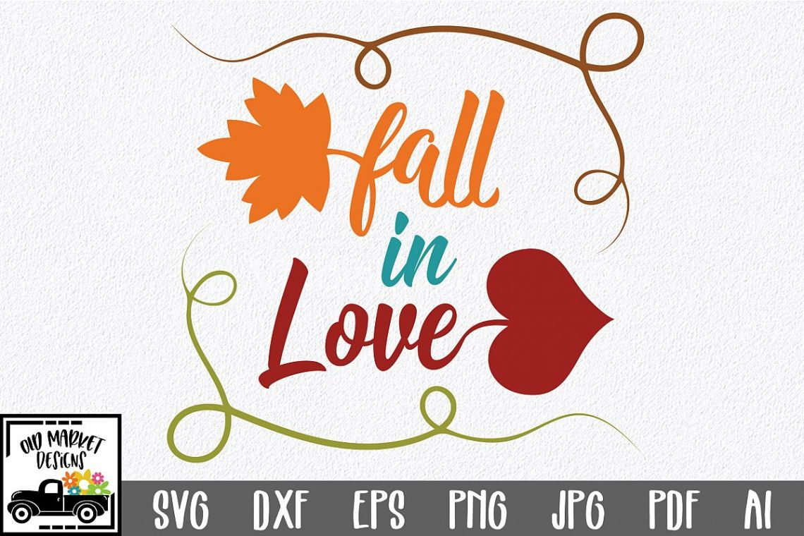 Download Fall in Love SVG Cut File - Autumn SVG-DXF-PNG-DXF-JPEG