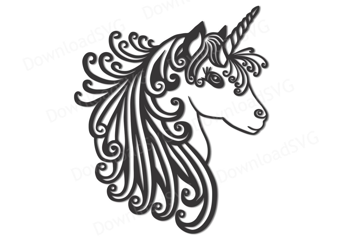 Svg And Cutting Files Unicorn Clipart Vector