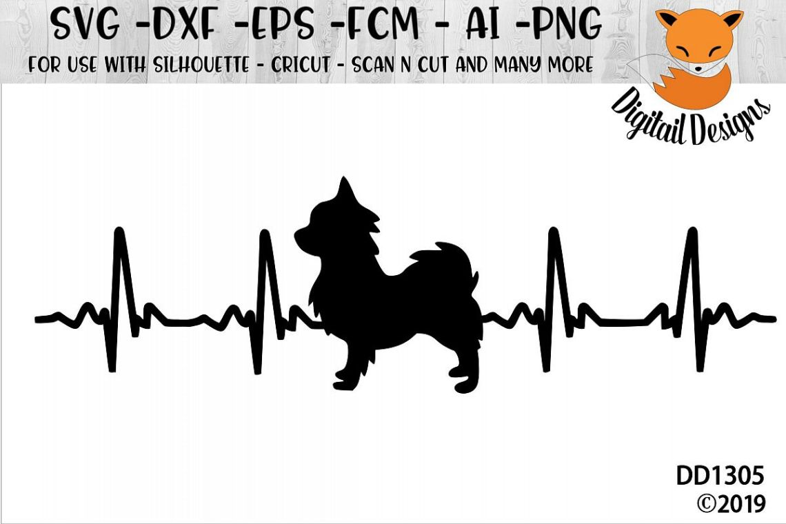 Download Chihuahua EKG Heartbeat Dog Lover SVG (207473) | Cut Files ...