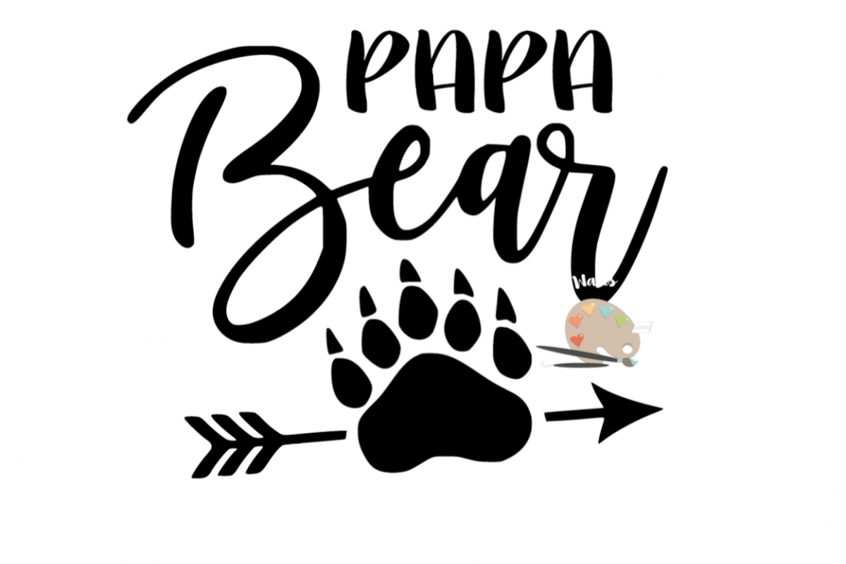 Papa Bear Svg Papa Bear Claw Arrow Svg Diy Daddy