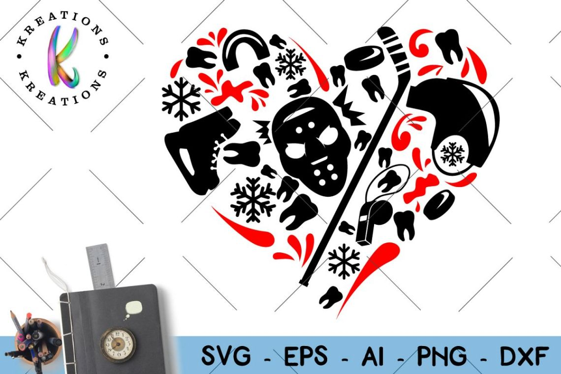 Download Ice Hockey Svg Hockey Heart svg cut file (58243) | SVGs ...