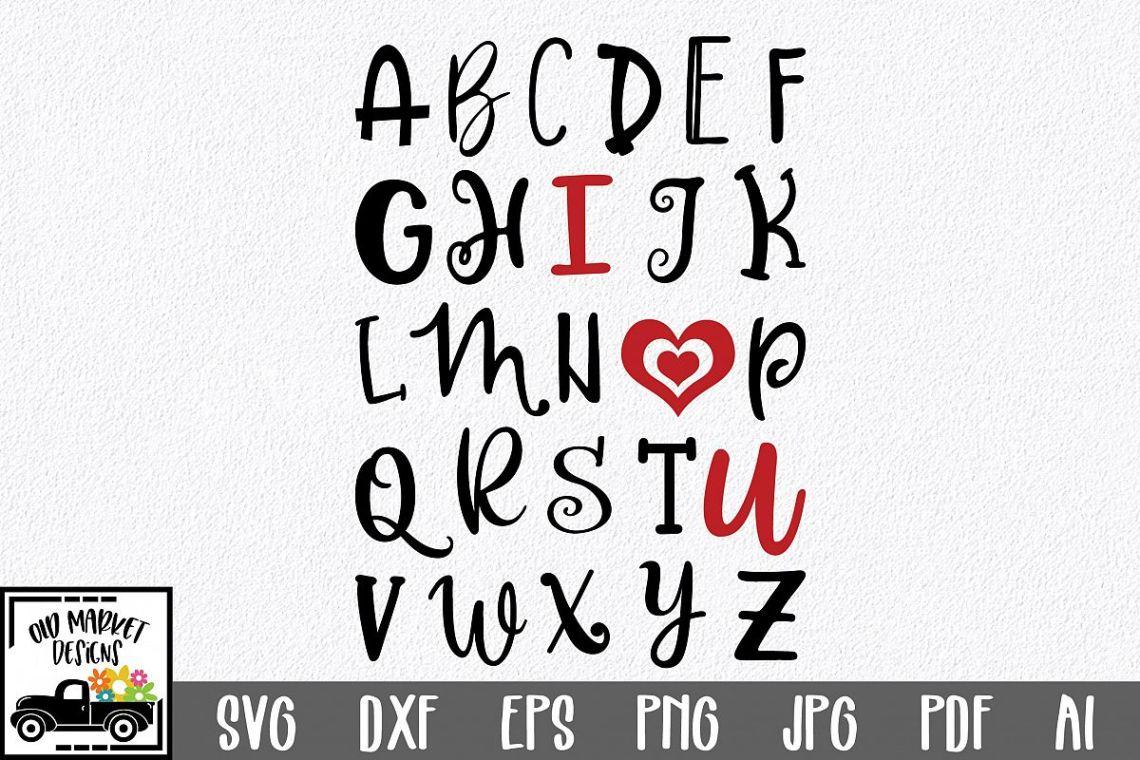 Download ABC I Love You SVG Cut File - SVG EPS DXF PNG PDF AI ...
