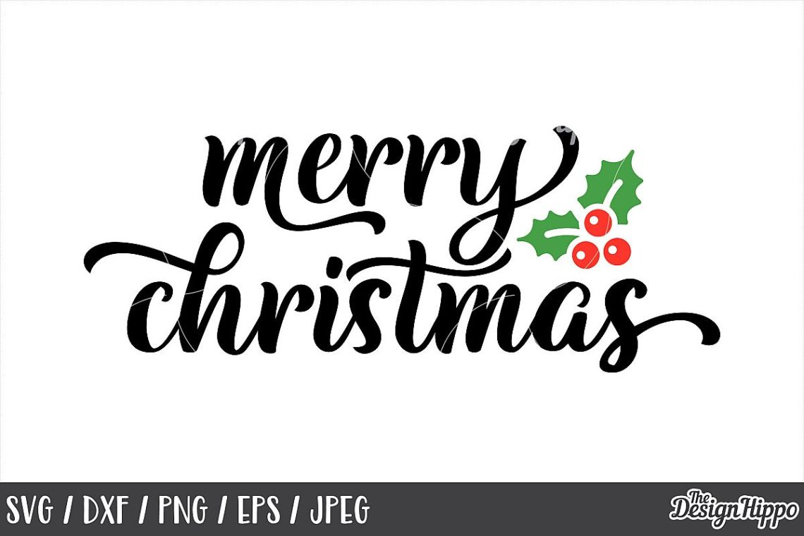 Download Merry Christmas SVG, Mistletoe, DXF, PNG, Cricut, Cut Files