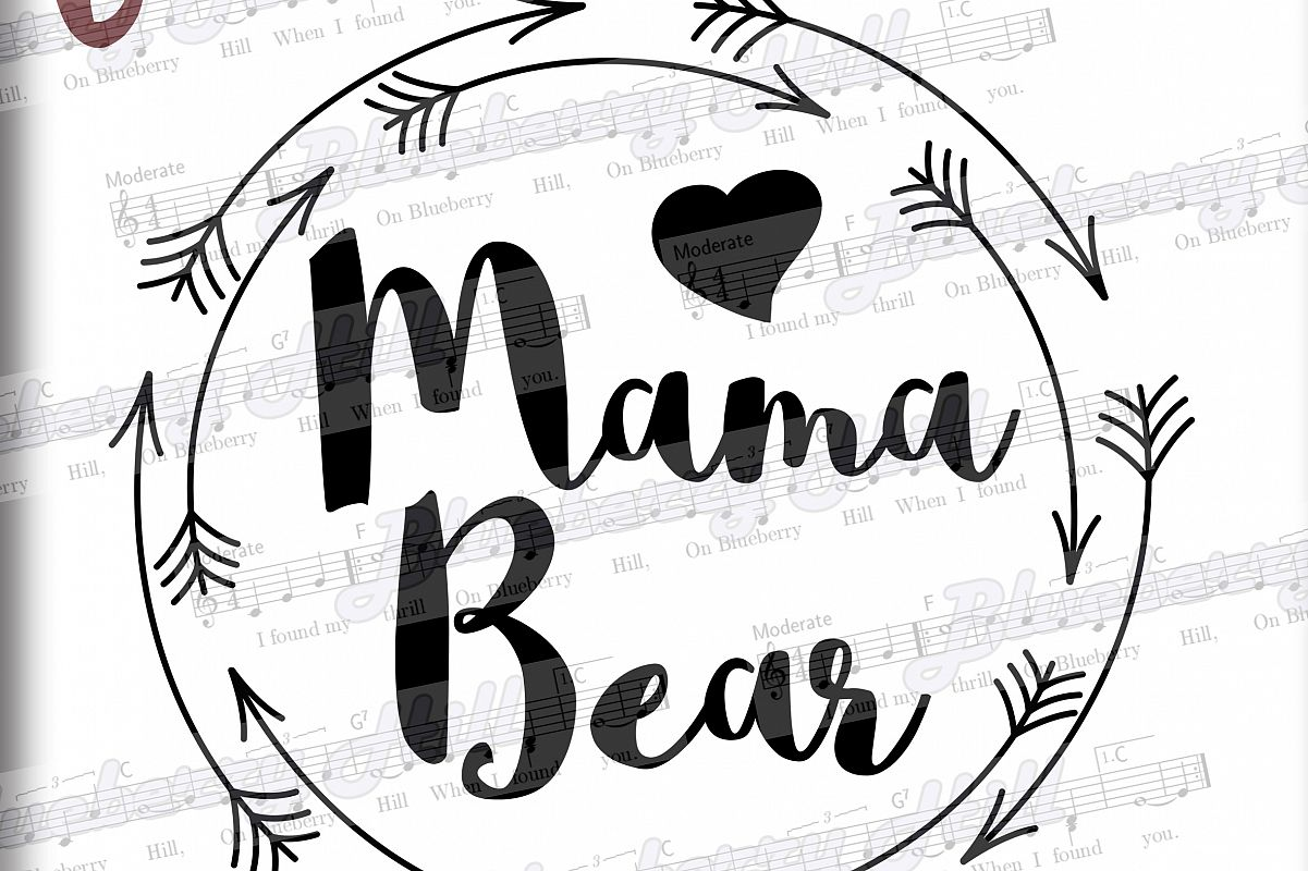 Mama Bear Svg Mothers Day Svg Digital