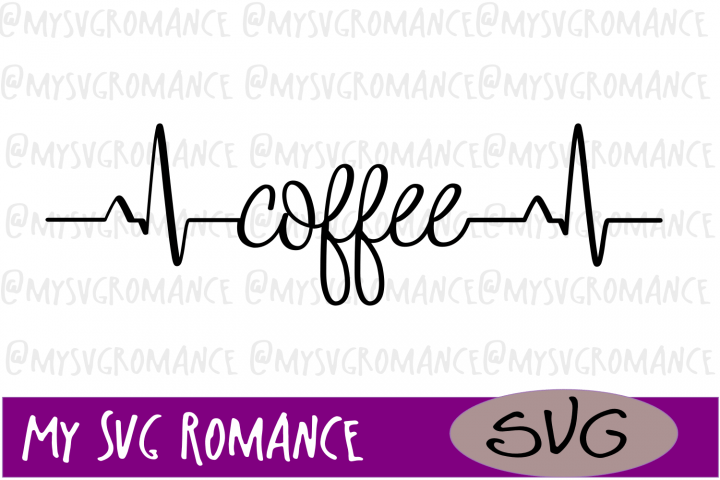 Download Coffee Heartbeat - SVG - Coffee Lover - Cut File