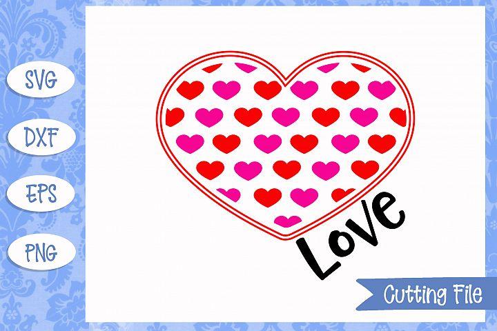 Download Love hearts Valentine's Day SVG File