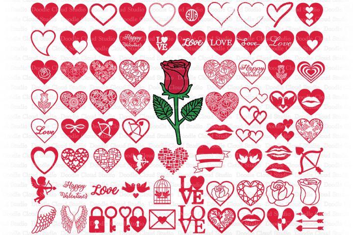 Download Heart SVG, Love SVG Cut Files, Valentine Heart SVG PNG ...