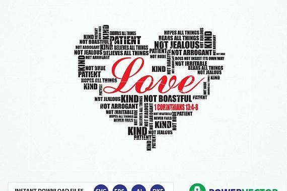 Download Bible Verse Svg 1 Corinthians 13:4-8 Love is patient, love ...