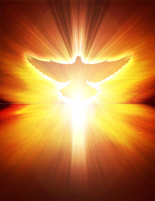 holy spirit dove in flames