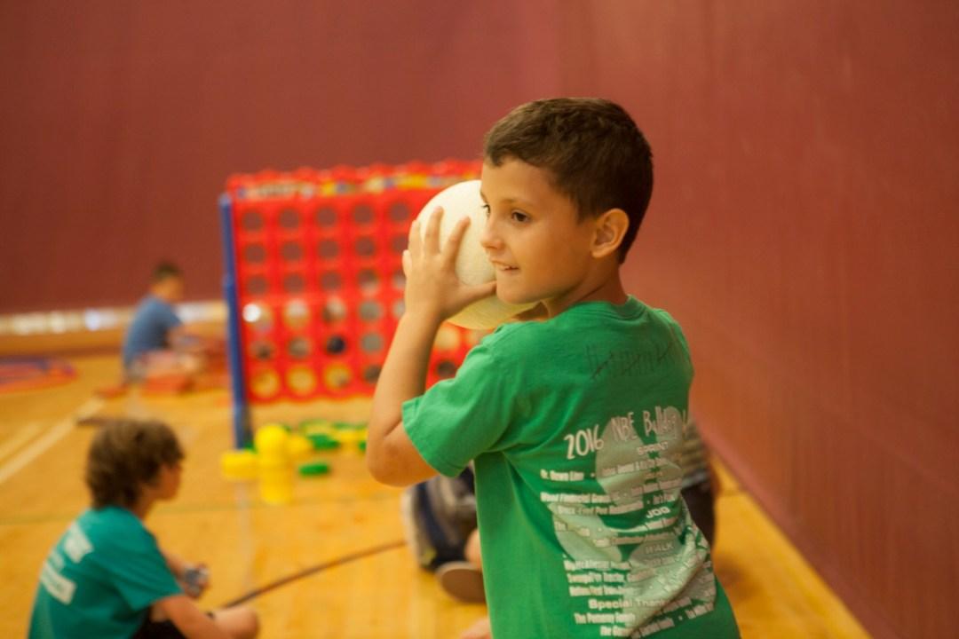 Child with dodgeball