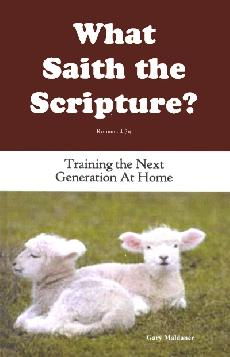 What Saith The Scripture  Training The Next Generation At Home