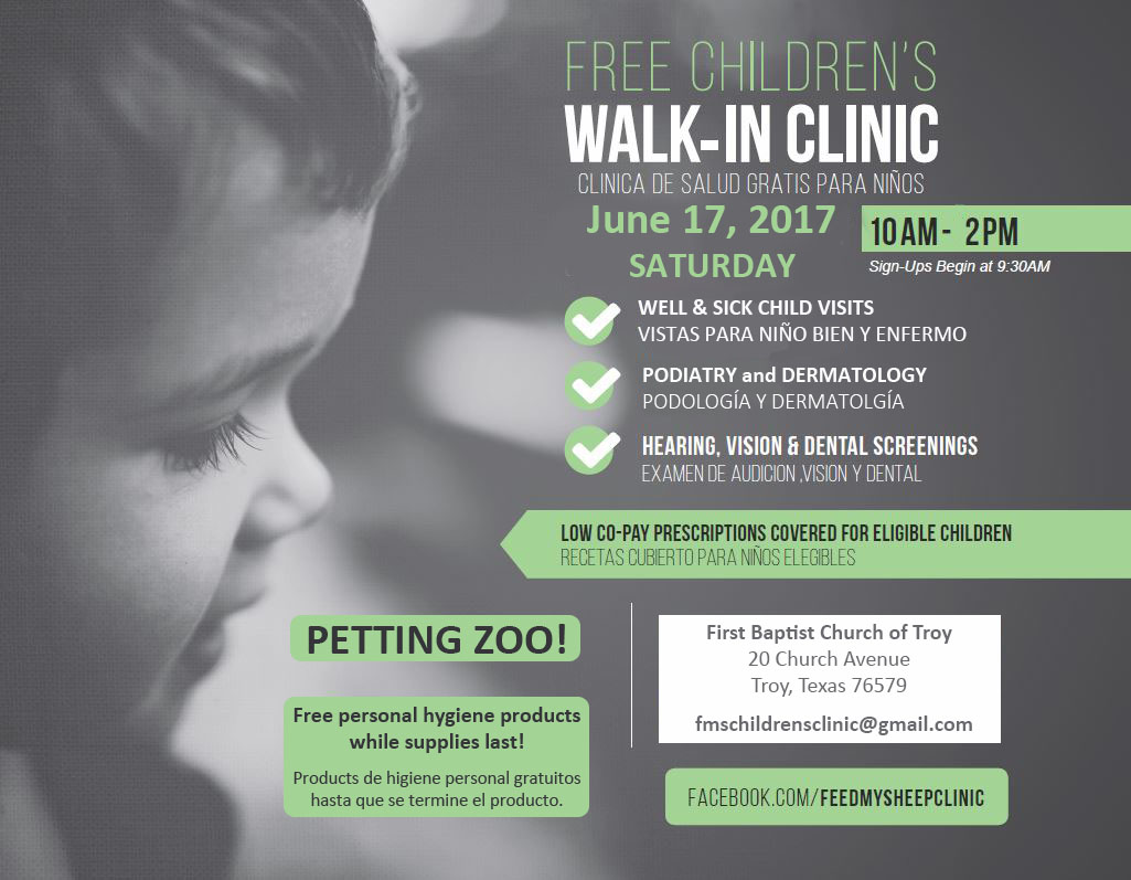 Free Children's Walk-In Clinic