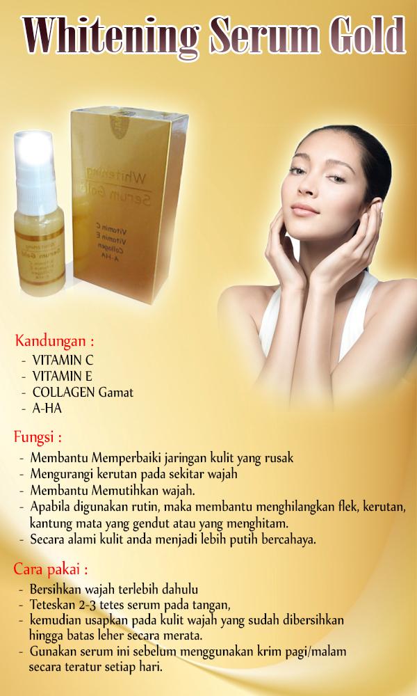 serum gold manfaat untuk wajah