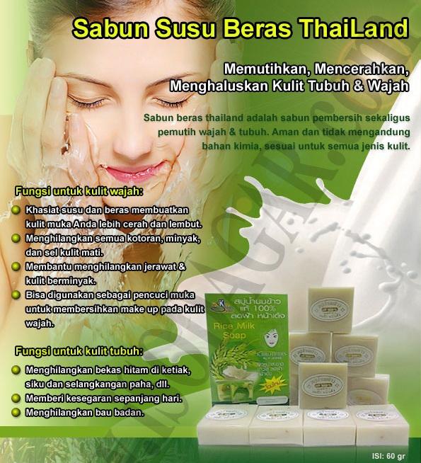 manfaat sabun beras thailand