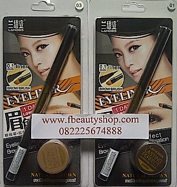 Landbis eyebrow & eyeliner gel alis 3in1