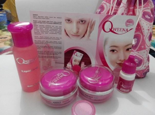 Qweena Skin Care Cream Pemutih Wajah Asli