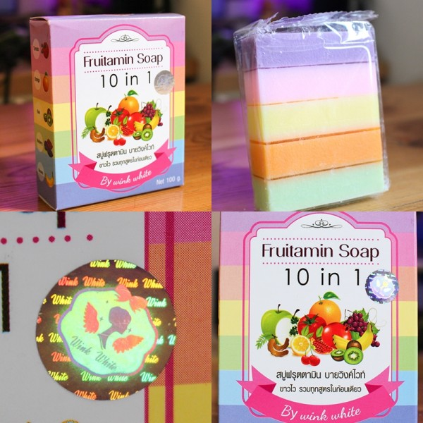 fruitamin soap by wink white