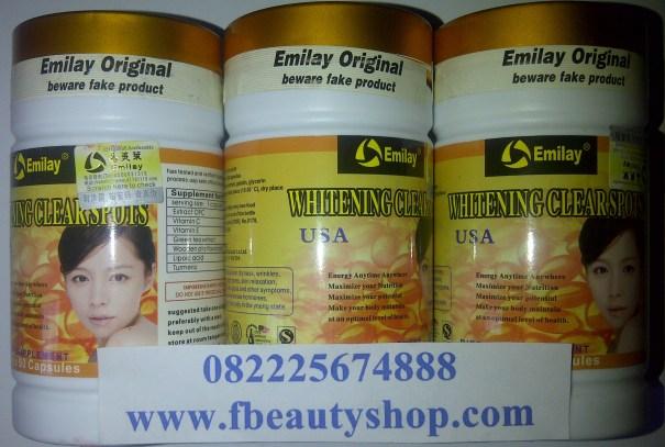emilay whitening sofgel usa pemutih kulit