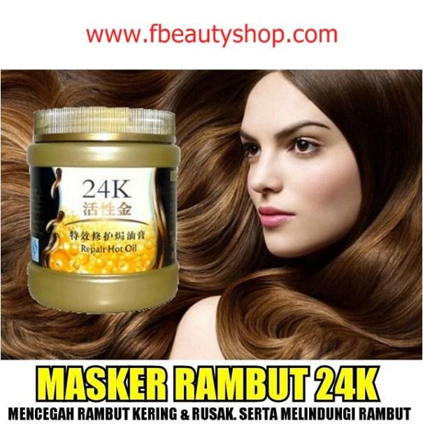 manfaat masker rambut 24k