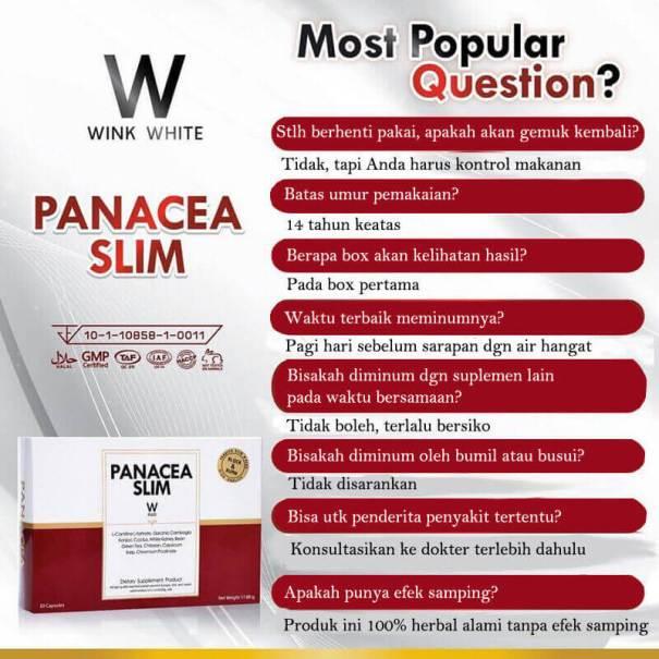 pertanyaan tentang panacea slim