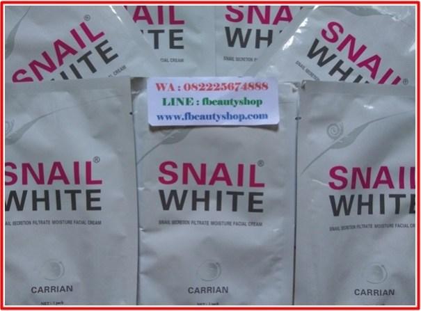 snail white mask asli thailand