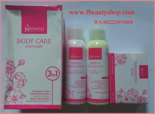 Hanasui Body Care 3in1 Lotion BPOM
