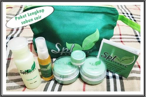 paket acne sabun cair cream spl skincare