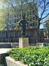 Also at Grosvenor Square: Statue of SHAEF Commander General Dwight D. Eisenhower.